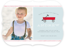 Little Red Wagon Children's Birthday Party Invitations