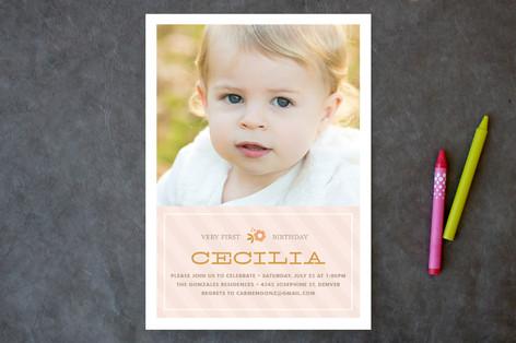 Cecilia Children's Birthday Party Invitations
