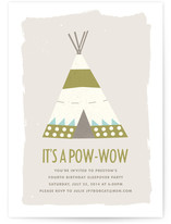Pow-Wow Children's Birthday Party Invitations