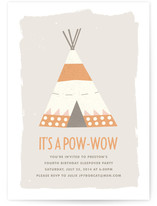 Pow-Wow Children&#039;s Birthday Party Invitations