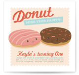 Donut Miss the Party! Children's Birthday Party Invitations