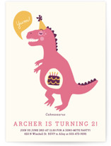 Cakeasaurus Dinosaur Children&#039;s Birthday Party Invitations