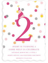 Confetti Fun Children&#039;s Birthday Party Invitations