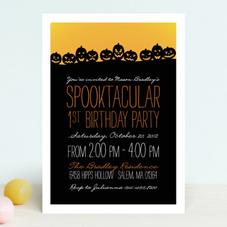 Spooktacular Children's Birthday Party Invitations
