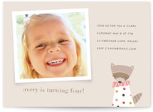 Rosie the Raccoon Children's Birthday Party Invitations