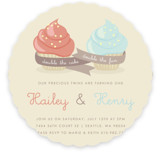 Double Cupcake Fun Children's Birthday Party Invitations