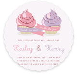 Double Cupcake Fun Children&#039;s Birthday Party Invitations