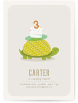 Slow &amp; Steady Children&#039;s Birthday Party Invitations