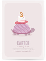 Slow & Steady Children's Birthday Party Invitations