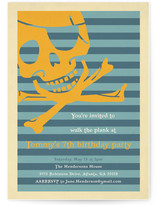 Pirate Party Children's Birthday Party Invitations