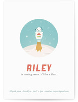 Space-bot Children's Birthday Party Invitations