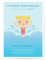 Splashing Birthday Children's Birthday Party Invitations
