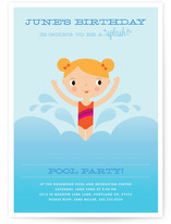 Splashing Birthday Children&#039;s Birthday Party Invitations