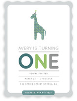 Giraffe Calf Children's Birthday Party Invitations