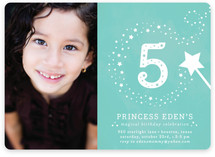 Little Miss Magic Children's Birthday Party Invitations
