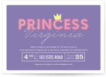 Party Princess Children's Birthday Party Invitations