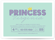 Party Princess Children&#039;s Birthday Party Invitations