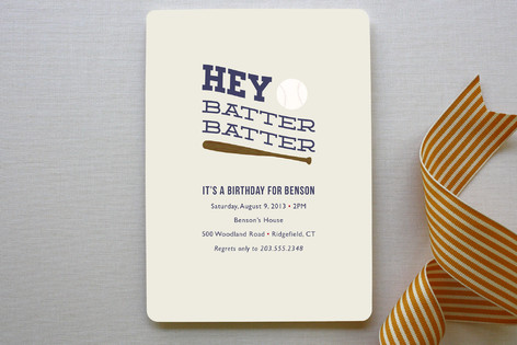 Hey Batter, Batter! Children's Birthday Party Invitations