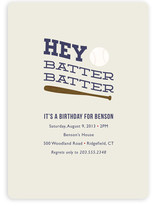 Hey Batter, Batter! Children&#039;s Birthday Party Invitations