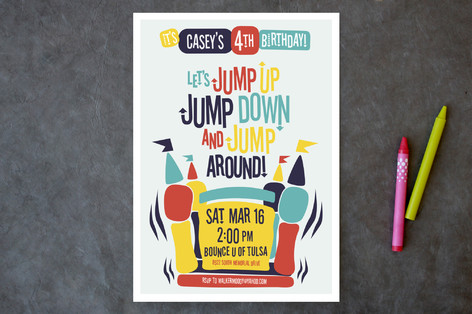 jump around children s birthday party invitations minted