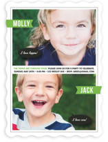 Twin Voice Children's Birthday Party Invitations