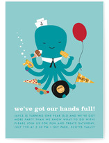 We&#039;ve Got Our Hands Full Children&#039;s Birthday Party Invitations