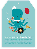 We've Got Our Hands Full Children's Birthday Party Invitations
