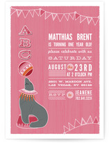 Circus Seal Children's Birthday Party Invitations