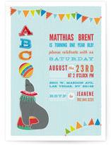 Circus Seal Children&#039;s Birthday Party Invitations