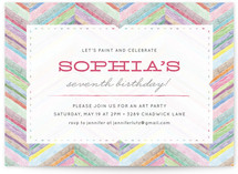Bright Chevron Children's Birthday Party Invitations