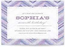 Bright Chevron Children&#039;s Birthday Party Invitations