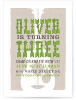 Folk Music Children's Birthday Party Invitations