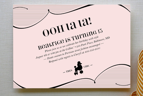 Tres Chic Children's Birthday Party Invitations
