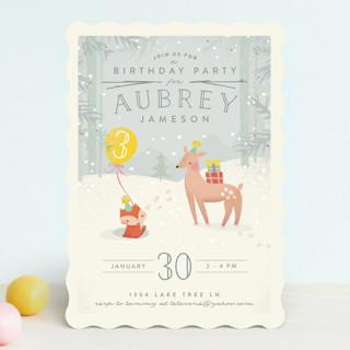 Winter Children's Birthday Party Invitations