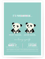 Pandamonium Children's Birthday Party Invitations