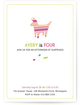 Piñata Surprise Children's Birthday Party Invitations