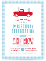 Americana Boy Children&#039;s Birthday Party Invitations