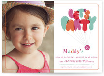 Don't Pop the Balloons Children's Birthday Party Invitations