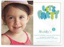 Don&#039;t Pop the Balloons Children&#039;s Birthday Party Invitations