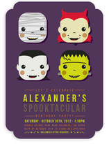 Spooky Costumes Children's Birthday Party Invitations