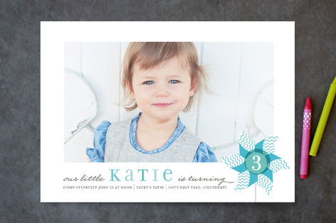 Pinwheel Children's Birthday Party Invitations