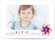 Pinwheel Children&#039;s Birthday Party Invitations