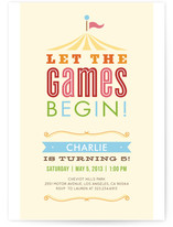 Let the Games Begin! Children&#039;s Birthday Party Invitations