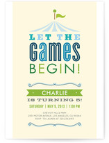 Let the Games Begin! Children's Birthday Party Invitations