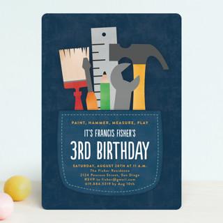 Tool Pocket Children's Birthday Party Invitations