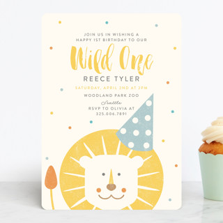 Wild One Children's Birthday Party Invitations