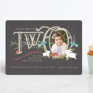Two are Thee Children's Birthday Party Invitations