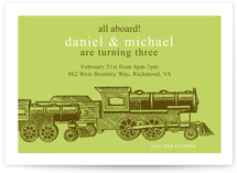 Antique Train Children&#039;s Birthday Party Invitations
