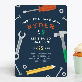 Handy Man Children's Birthday Party Invitations