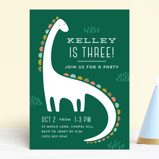 Dinotastic Children's Birthday Party Invitations